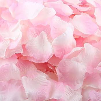 Amazon De Bluestercool 1000 Pc Silk Kunstliche Rosenblatter Blumen