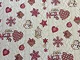 Provencestoffe.com Weihnachtsstoff Meterware, Gobelin Xmas,