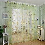 Colorido de la flor del salón de belleza Screens Cortinas - Verde