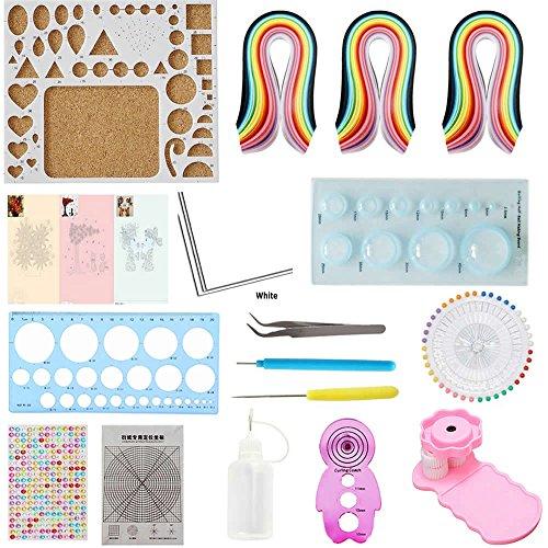 Quilling Kit & Paper Set Küchengeräten/Set 780Blatt Farbe Papier DIY Handwerk Werkzeug Set (Papier-perlen-handwerk Kit)