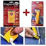 Fugen-Ass plus und Fugenmesser (Silikon Fliesenleger Werkzeug) - Das unverzichtbare Set bei der Badrenovierung