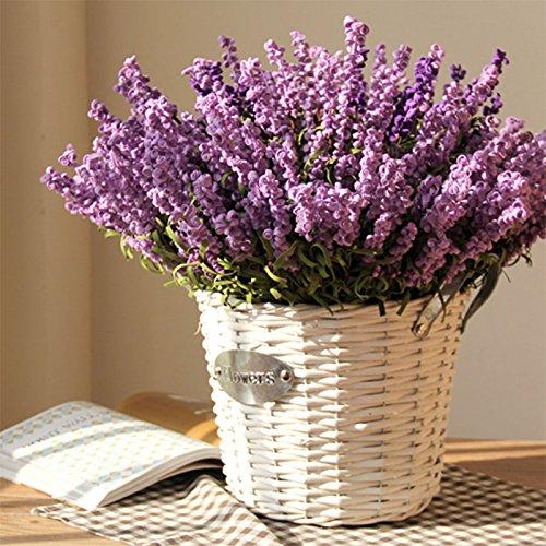 Auntwhale 3 pack artificiale lavanda pe schiuma fiore organico viola lavanda fiori finti per illuminare up wedding home office party hotel negozio decorazione natalizia