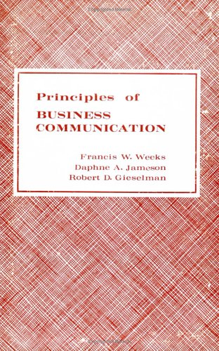 Principles of Business Communication