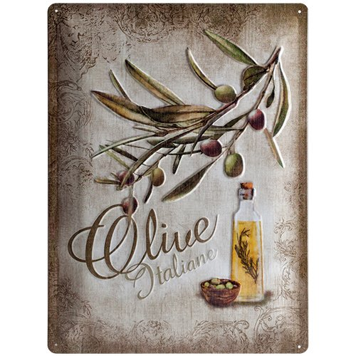 Nostalgic-Art 23140 Home & Country - Olive Italiane, Blechschild 30x40 cm Country Vintage Home Decor
