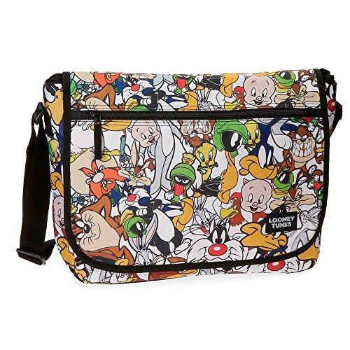 Warner Looney Tunes Mochila Infantil, 11.78 litros, Color Gris
