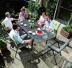 MWH Garden & Home Savoy Klappsessel e-grau: Amazon.de