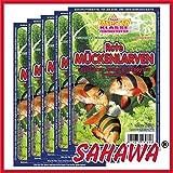 SAHAWA® Rote Mückenlarven klein Frostfutter 5X 100g Blister + 1 Blister Daphnien gratis, verpackt mit Trockeneis -78°C, Aquarium, Aquaristik, Fischfutter, Frostfutter