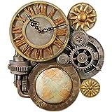 Design Toscano - NG33981, Orologio decorativo da parete, motivo: Ingranaggi