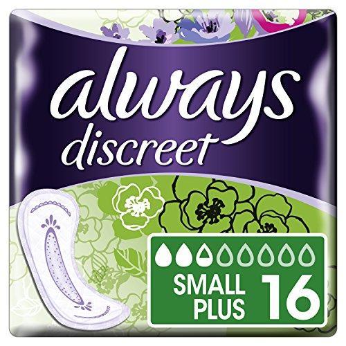 Always Discreet Inkontinenz Einlagen Small Plus bei Blasenschwäche, 2er Pack (2 x 16 Stück) (Inkontinenzeinlagen Für Frauen)