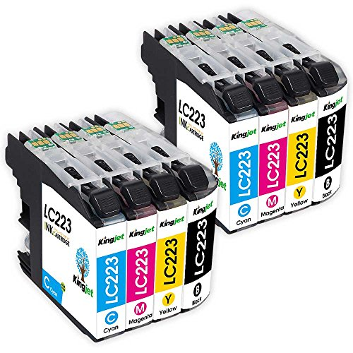 kingjet-8-pack-compatible-hermano-lc223-multipack-cartucho-de-tinta-con-chip-para-brother-dcp-j4120d