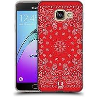 Head Case Designs Rouge Bandana Cachemire Classique Étui Coque en Gel molle pour Samsung Galaxy A3 (2016)
