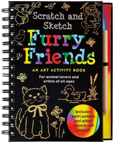Furry Friends: An Art Activity Book for Animal Lovers and Artists of All Ages [With Wooden Stylus for Drawing] (Scratch & Sketch)