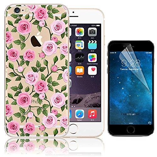 Case per iPhone 6S,Cover per iPhone 6 ,Bonice Ultra Slim Diamante Bling Glitter Lusso Specchio Cristallo Strass Morbida Rubber Bumper 360 Gradi [Rotazione Grip Ring Kickstand] con Supporto Dellanello Custodia 14