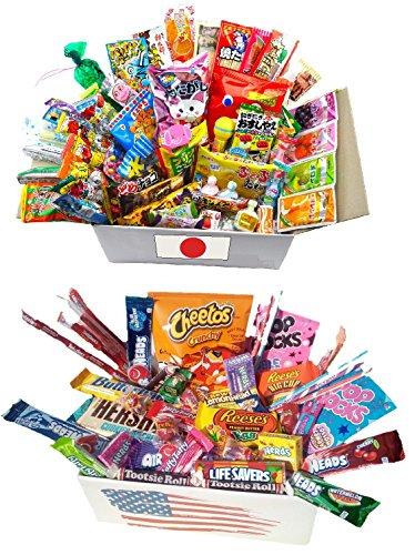 STOCK EN FRANCE lot de 20pcs 10 x bonbon americain + 10 x bonbons japonais import japon snacks etats unis box pas cher kit melange confiserie friandises americains nerds bonbons