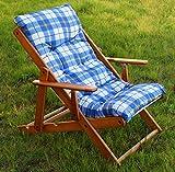 POLTRONA SEDIA SDRAIO HARMONY RELAX (BLU) in legno pieghevole cuscino imbottito soggiorno cucina giardino salone divano immagine
