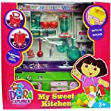 Funny Teddy Dora Kitchen Set Toy For Kids Girls/boys With Various Accessories ( Flashing Lights ) | Birthday Gift Toy