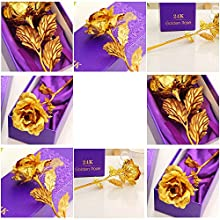 House Of Quirk Great Valentine'S Gift 24K Gold Rose With Gift Box And Carry Bag - Best Gift For Loves Ones, Valentine'S Day