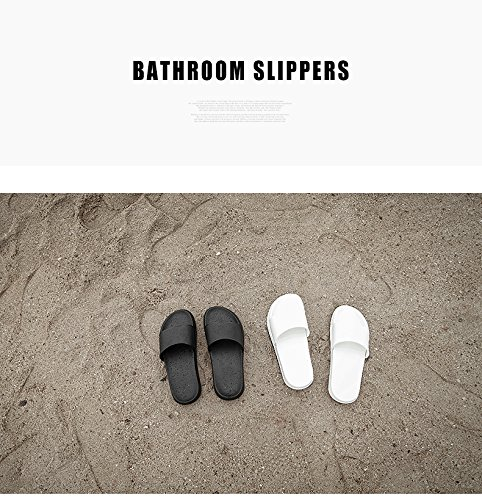 Schlupfhalsband Hausschuhe rutschfeste öffnen Tote Dusche Sandalen Innen-Mule Think EVA Sohle aus Kunstharz steckschäume Pool Schuhe Badezimmer Slide für Erwachsene Schwarz