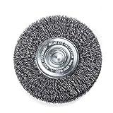 Rundbürste zum Entfernen von Rost und Farbe sowie Reinigen von Schweißnähten | Bürste mit 6 mm Schaft und 70 x 16 – 18 mm Durchmesser | Borsten: Stahldraht STA, gewellt, 0,30 mm