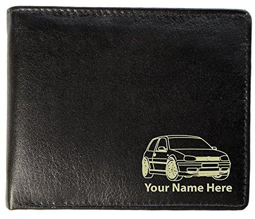 Brieftasche Leder, Motiv: VW Golf Mk4 GTI, personalisierbar, Toskana-Stil -