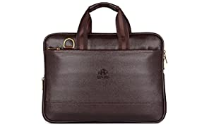 The Clownfish Vegan Leather 8.4 Liters Briefcase  Slim Expendable Bag   Mac Air  Up to 14 inch laptop size Laptop Bag Macbook Pro Macbook Air Slim Bag