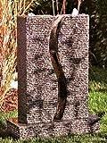 Granit-Gartenbrunnen 'S-Twin'