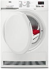 AEG T7DB40470 Wärmepumpentrockner / 7 kg XXL-Schontrommel / effizienter Wäschetrockner mit Wärmepumpe und Mengenautomatik / schonende Trocknung mit niedrigen Temperaturen / Energieklasse A+ (277 kWh pro Jahr) / weiß