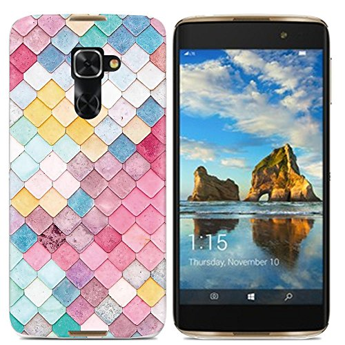 Easbuy Handy Hülle Soft Silikon Case Etui Tasche für Alcatel One Touch idol 4 Pro 6077X / Idol 4S / Windows Smartphone Smartphone Cover Handytasche Handyhülle Schutzhülle