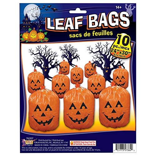Forum Novelties 7620010Kunststoff Halloween Halloween-Kürbislaterne Kürbis Leaf Staubbeutel Yard Dekoration - Tasche Von Trash Kostüm