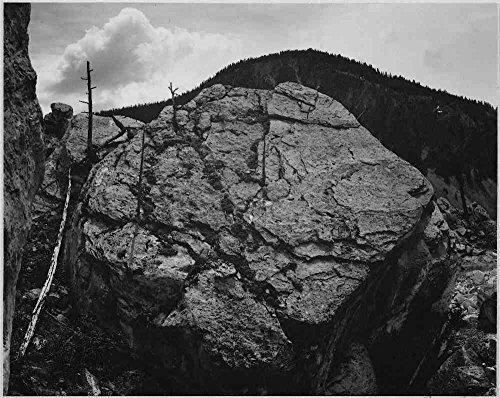 Das Museum Outlet-Adams-Rocks at Silber Gate, Yellowstone National Park, gespannte Leinwand Galerie verpackt. 29,7x 41,9cm Adams Rock