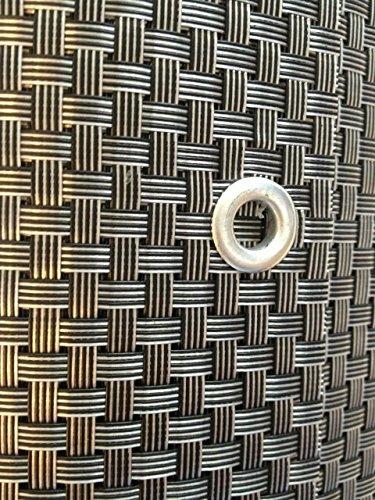 S&D Smart Deko 700x90cm Silber&Anthrazit Polyrattan Sichtschutz, Balkonsichtschutz, Windschutz, Balkonblende, Garten Sichtschutz