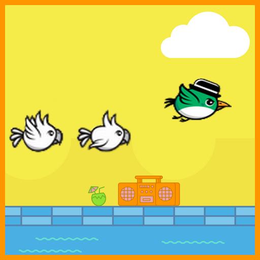 Flying Green Bird Adventure