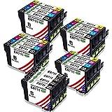 Toner Kingdom 20 Pack (4 Set + 4 Noir) Compatible Epson T0711 T0712 T0713 T0714...
