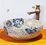 Waschbecken Des Badezimmers Ovale Waschbecken Moderne Art Und Weise Kunsttisch 1350 Grad Hochtemperatur Brennen Keramikbecken 40 * 14Cm