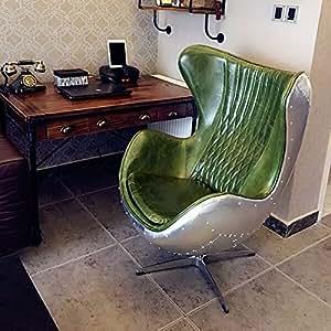 Pre order gr n leder aluminium eggchair for Sessel replica