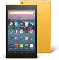 "Fire HD 8 Tablet with Alexa, 8"" HD Display, 16 GB, Yellow - with Special Offers"
