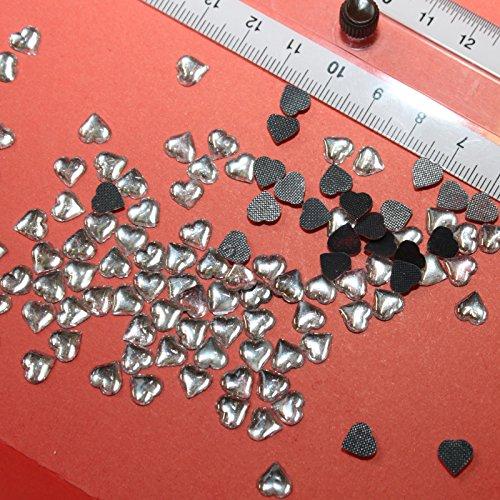 40Strass Forma Cuore Cristallo hotfix 6x 6mm da stiro in vetro