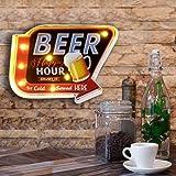 FSVEYL Décorations Murales De Café, Décor En étain Gaufré Fait à La Main Vintage en Métal, Signe de Suspension Murale de Styl