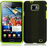Supergets® Samsung I9100 Galaxy S2 Green Dual Layer Protection Hybrid Silicone Case Cover Skin, Screen Protector And Polishing Cloth