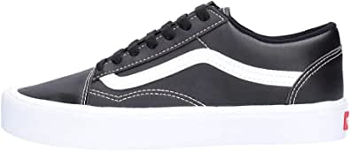 Vans Uomo Old Skool Lite Classic Tumble Trainers, Nero