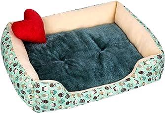 ZhuikunA Liege Hundebett Katzenbett Baumwolle Haustier Bett Kissen für Hunde Katzen Kleintiere Kissen