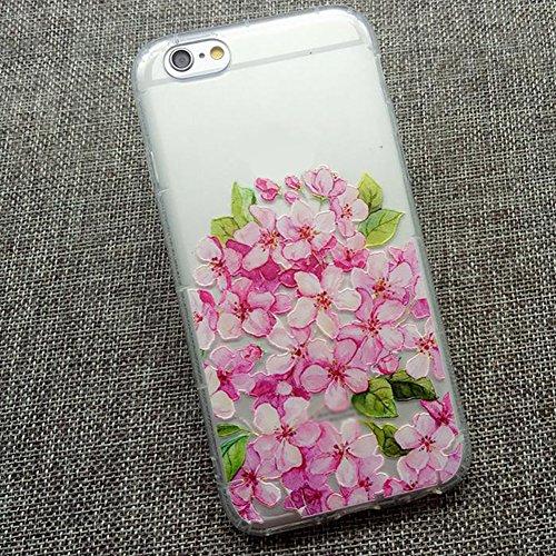 Qingsun Coque Housse Etui pour iPhone 7, TPU Coque en Silicone Etui de Protection Lovely Etui Housse Portable Pour Fille Femme(Vert) Rose