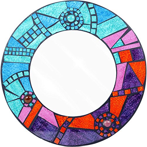 Something Different Mosaic Round Mirror, Multi-Colour