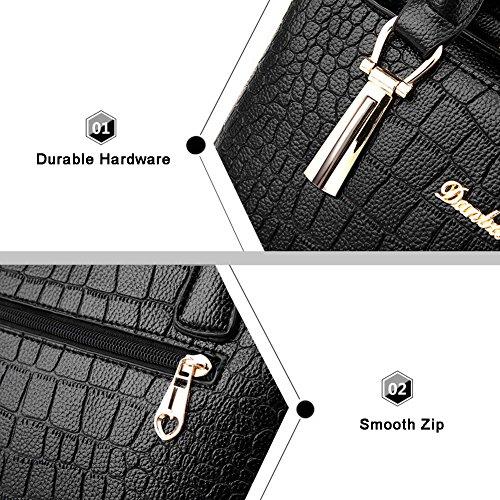Yoome modello di coccodrillo grande borsa a tracolla Bulk Ladies borsa borsa portafoglio borsa borsa borse casual - Navy Rosa
