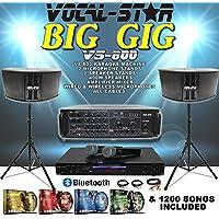 Vocal-Star VS-800 BIG GIG Karaoke Machine Amplifier Speaker Stands Microphones and Songs