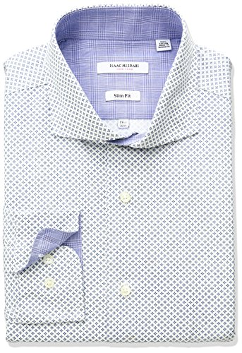 isaac-mizrahi-mens-slim-fit-printed-square-diamond-cut-away-collar-dress-shirt-blue-165-neck-34-35-s