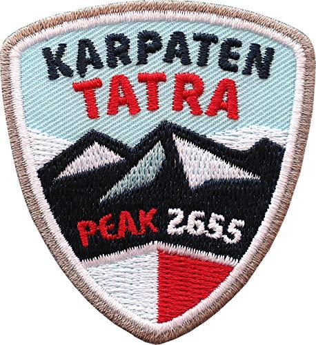 2 x Hohe Tatra Abzeichen 55 x 60 mm gestickt / Polen Karpaten Bergtour Bergsteigen Wandern Klettern Klettersteig / Aufnäher Aufbügler Sticker Patch für Kleidung Rucksack / Wanderführer Tourenkarte