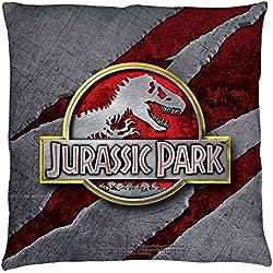 Parque jurásico Slash Logo manta almohada blanco