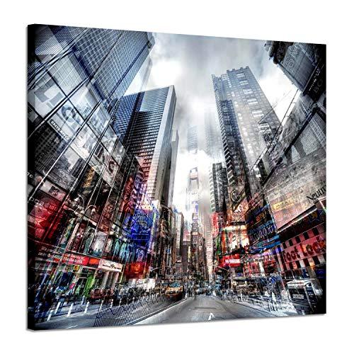 Artistic Path Abstrakte Stadtlandschaft Dekorationsbilder - Kunstwerk Hustle New York Time Square City Shots mit Sonnenlicht Street Foto-Druck auf Leinwand für modernes Zuhause