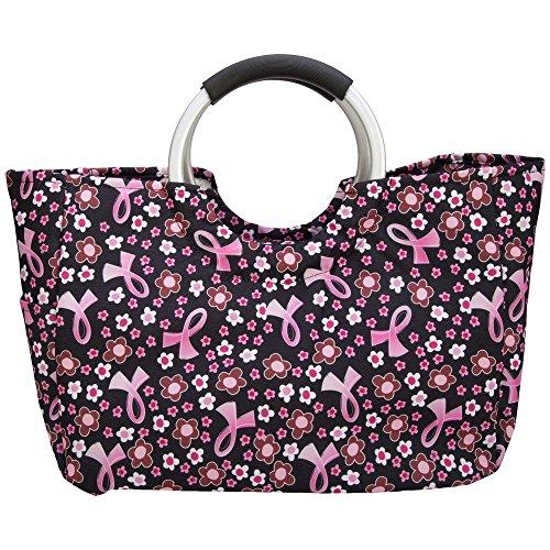 Pink Ribbon isoliert Einkaufstasche -